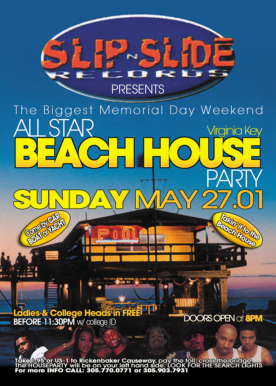 Slip n Slide Records at the Beach House Party in Virgina Key Beach