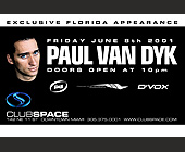 Paul Van Dyk at Club Space Miami - tagged with upcoming events