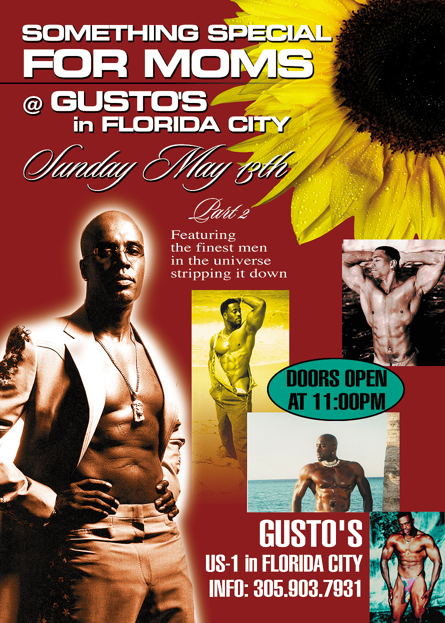 Something Special for Moms at Gusto's in Florida City Sunday