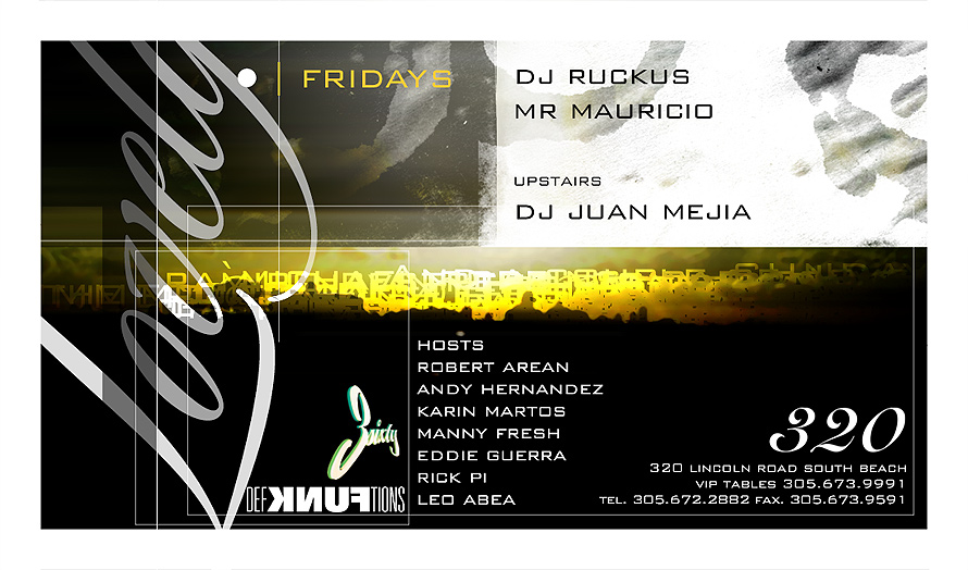 Fridays Lovely DJ Ruckus and Mr Mauricio at 320 Nightclub