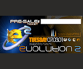 Evolution 2 Pre Sale Ticket - tagged with grid