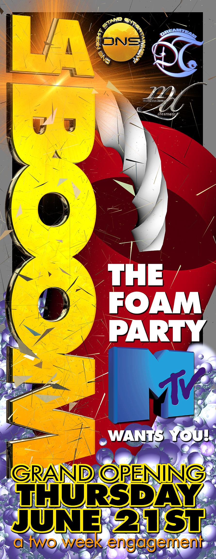La Boom MTV The Foam Party at Mad House