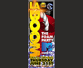 La Boom MTV The Foam Party at Mad House - 2750x1063 graphic design