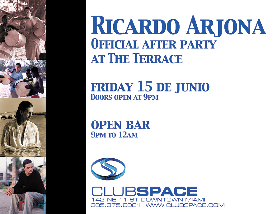 Ricardo Arjona After Party at Club Space