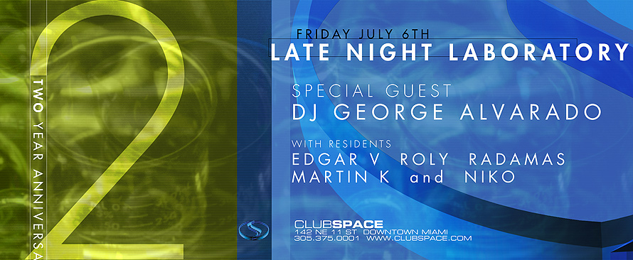 Club Space Late Night Laboratory Two Year Anniversary