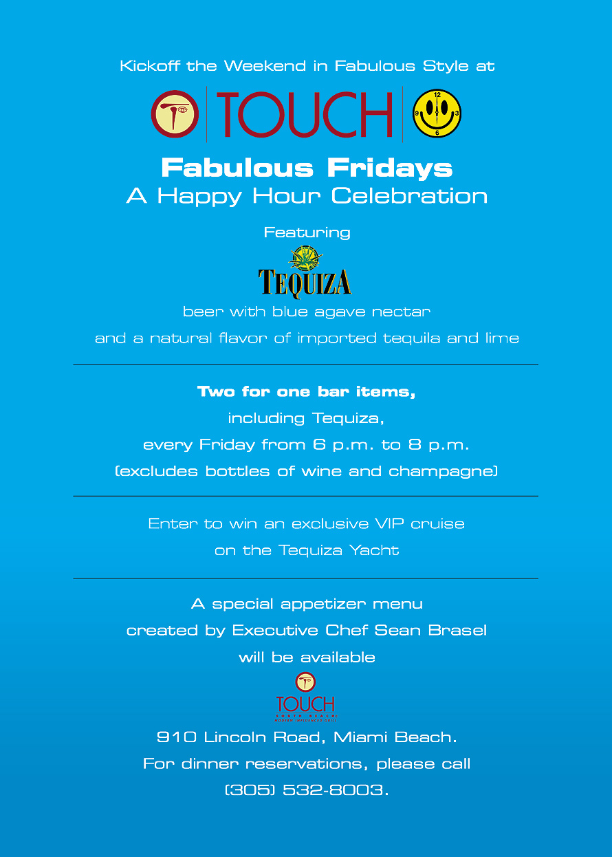 Fabulous Fridays at Touch