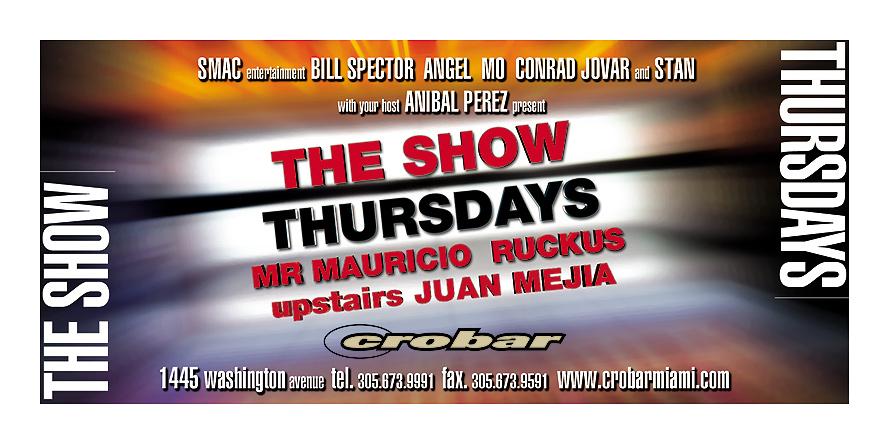 The Show Thursdays Event at Crobar