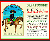 El Rancho Grande Mexican Restaurant - Miami Flyers Graphic Designs