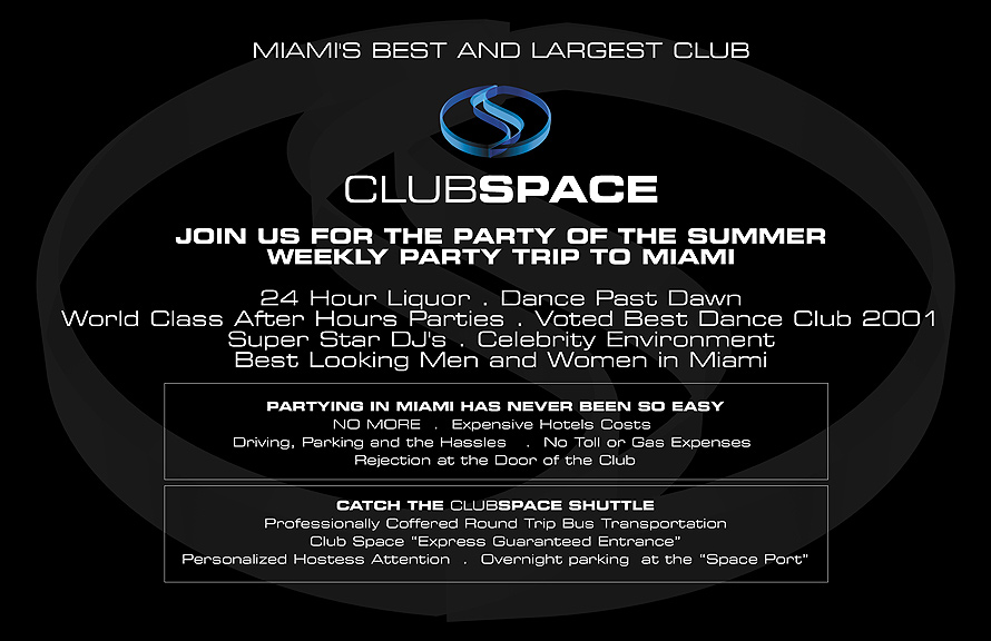 Club Space Party of the Summer