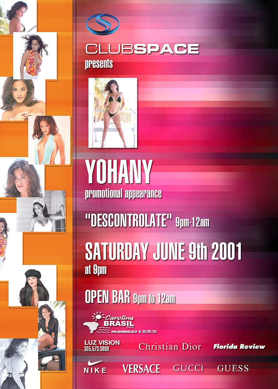 Club Space Presents Yohany Promotional Appearance