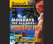 The All Ages Summer Get Down at Bermuda Bar - Top 40 Graphic Designs