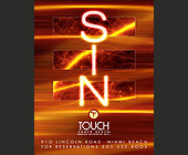 Sin at Touch in South Beach - tagged with 91o lincoln road