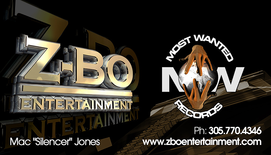 Z-Bo Entertainment Business Cards