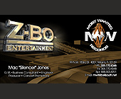 Z-Bo Entertainment Business Cards - tagged with hands