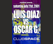 Luis Diaz vs Oscar G at Club Space - tagged with niko