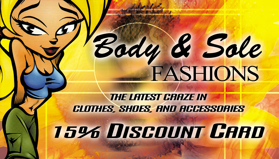 Body and Sole Fashions Discount Card