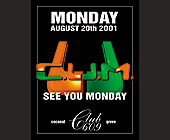 C.U.M Monday at Club 609 - created July 17, 2001