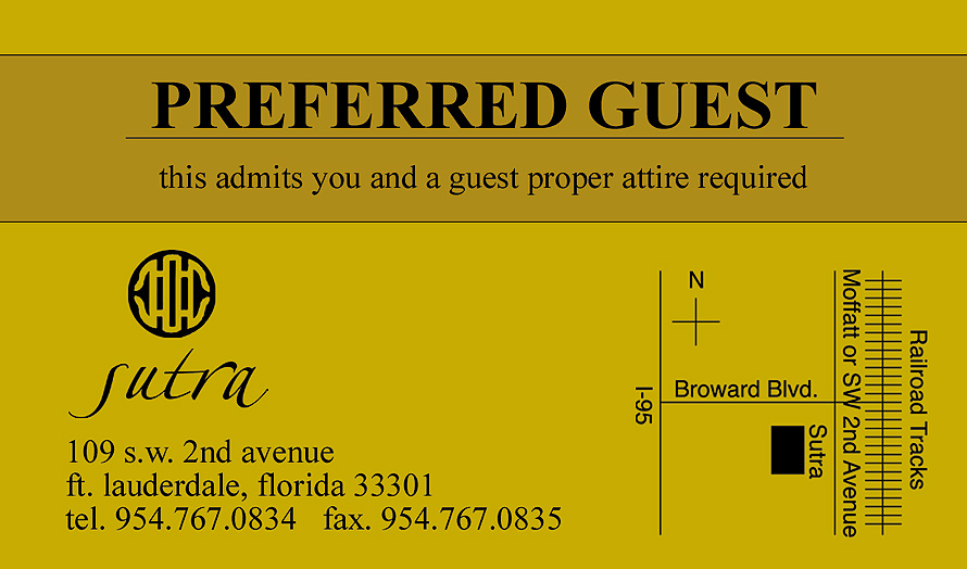Sutra Preferred Guest Pass