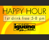 Cafe Iguana Kendall Happy Hour - created July 02, 2001