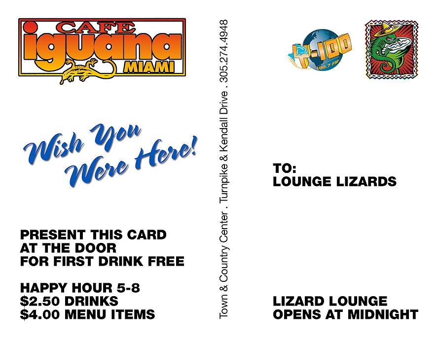 Fridays at Cafe Iguana Miami