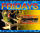 Fridays at Cafe Iguana Miami - tagged with town