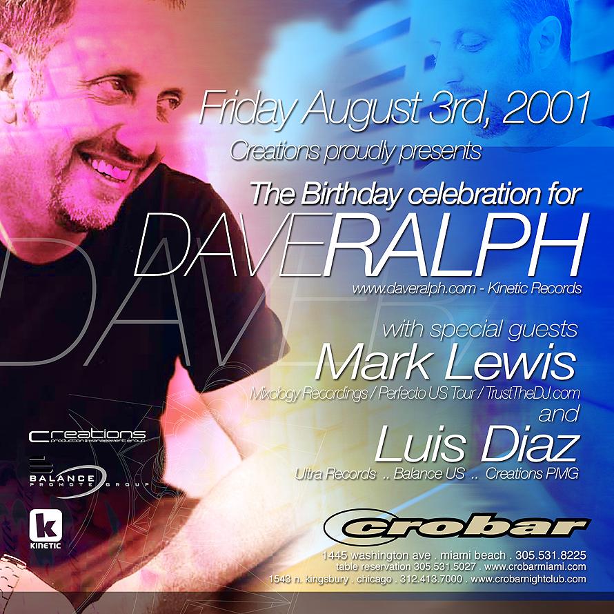 Dave Ralph Birthday Celebration at Crobar
