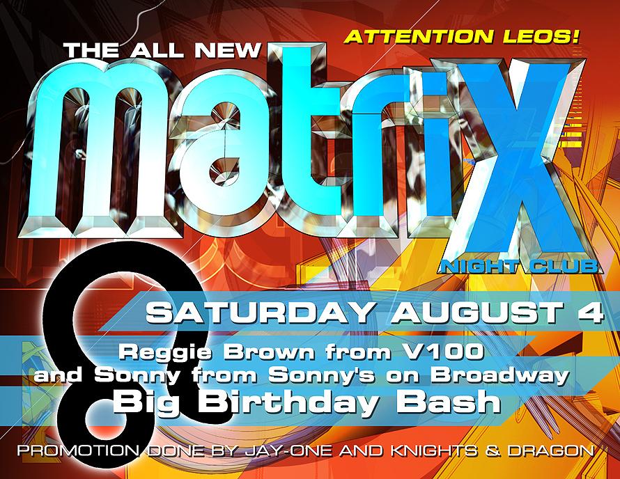 Matrix Nightclub Birthday Bash