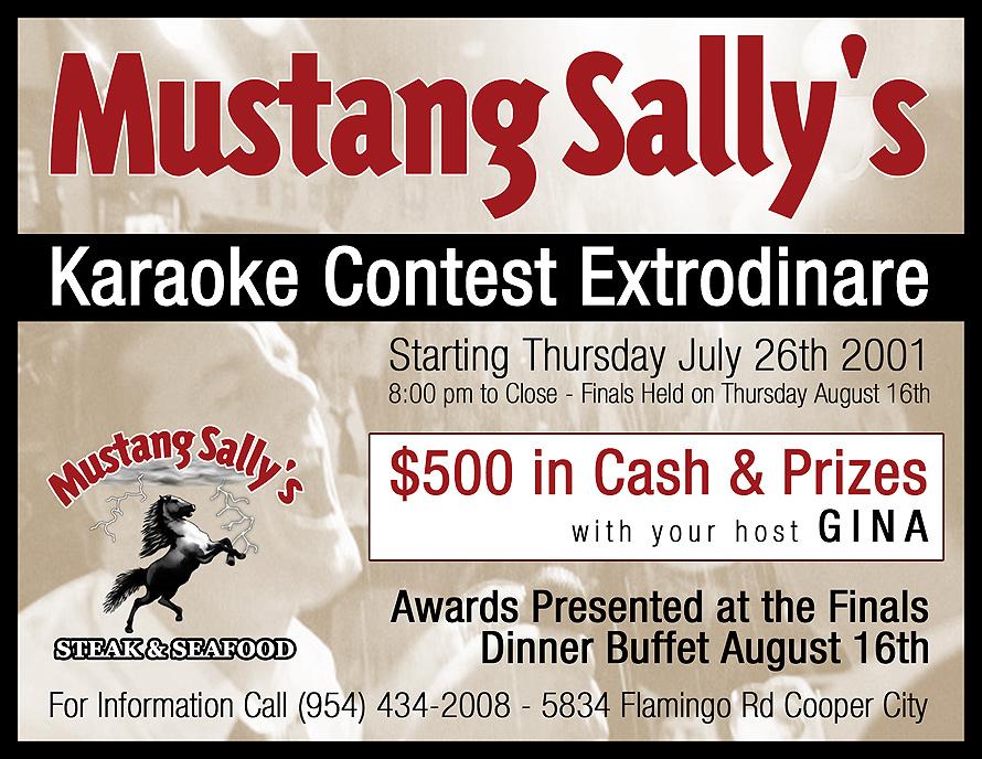 Mustang Sally's Karaoke Contest Extraordinaire