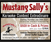 Mustang Sally's Karaoke Contest Extraordinaire - tagged with cooper city