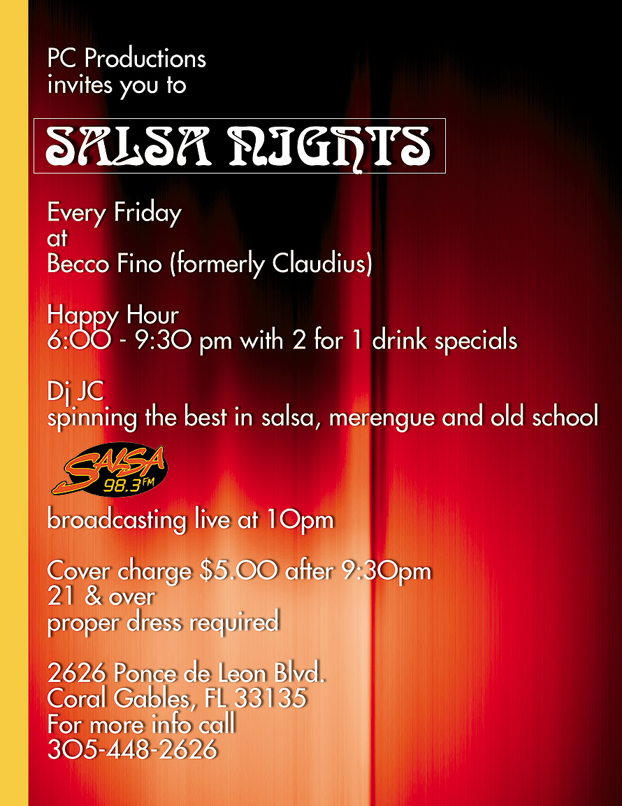 Salsa Nights at Becco Fino