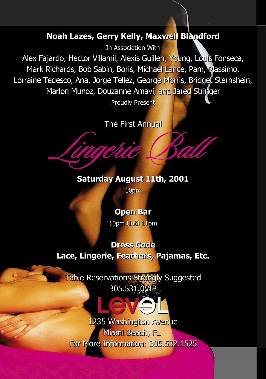 Lingerie Ball at Level