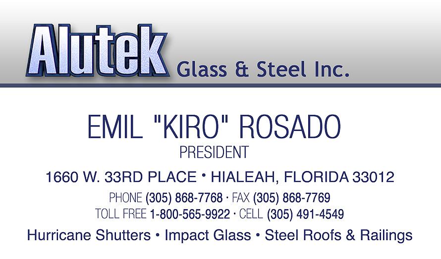 Alutek Glass and Steel Emil Kiro Rosado