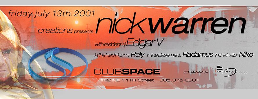 Nick Warren at Club Space