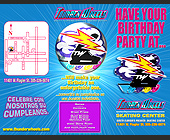 Thunder Wheels Birthday Party Packages - Skating Graphic Designs