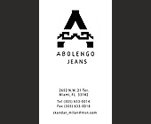 Abolengo Jeans - created August 01, 2001