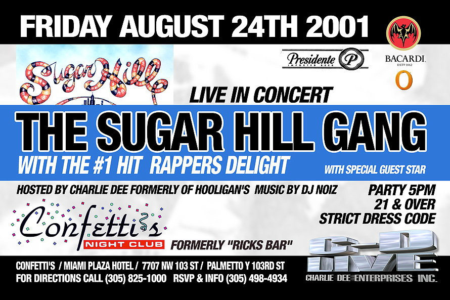The Sugar Hill Gang Performing Live at Confetti's