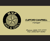 MVP Bar and Grill Manager Card - tagged with 305305