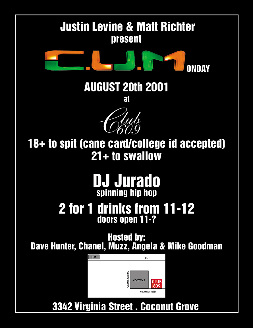 C.U.M Monday at Club 609