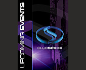 Club Space Upcoming Events - created August 30, 2001