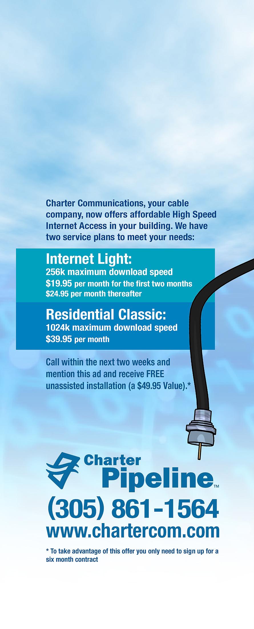 Charter Pipeline High Speed Internet