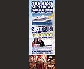 Supercruise: The Best Superbowl Party in the World - 1275x3300 graphic design