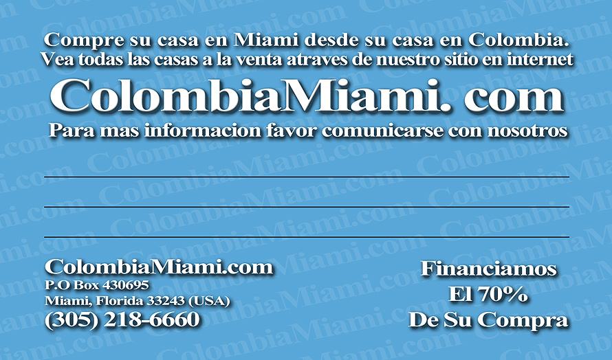 Colombia Miami Inversiones de Bienes y Raices en Miami