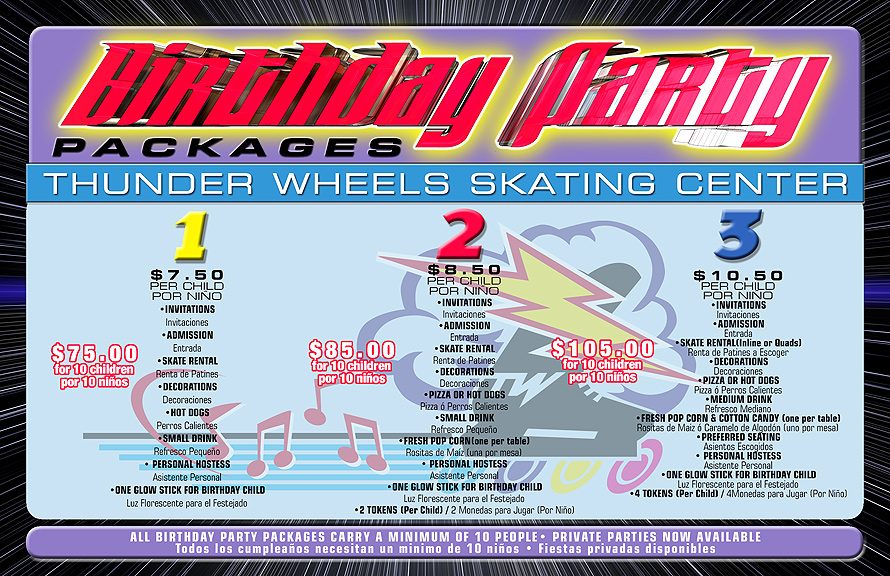 Thunder Wheels Birthday Party Packages Postcard