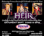 Heir at Arena Sports Cafe - tagged with 305.620.8000
