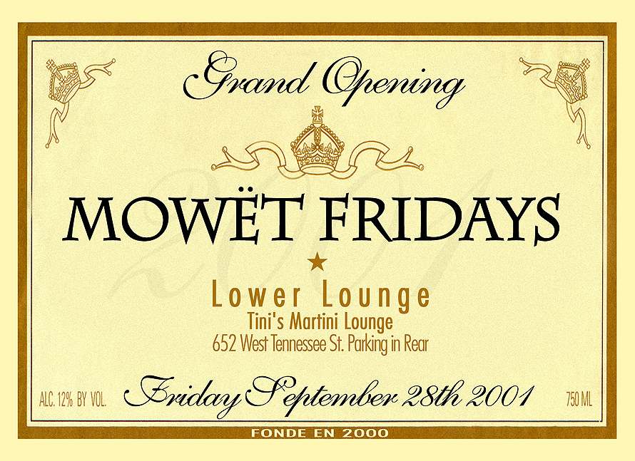Mowet Fridays Grand Opening at Tini's Martini Lounge