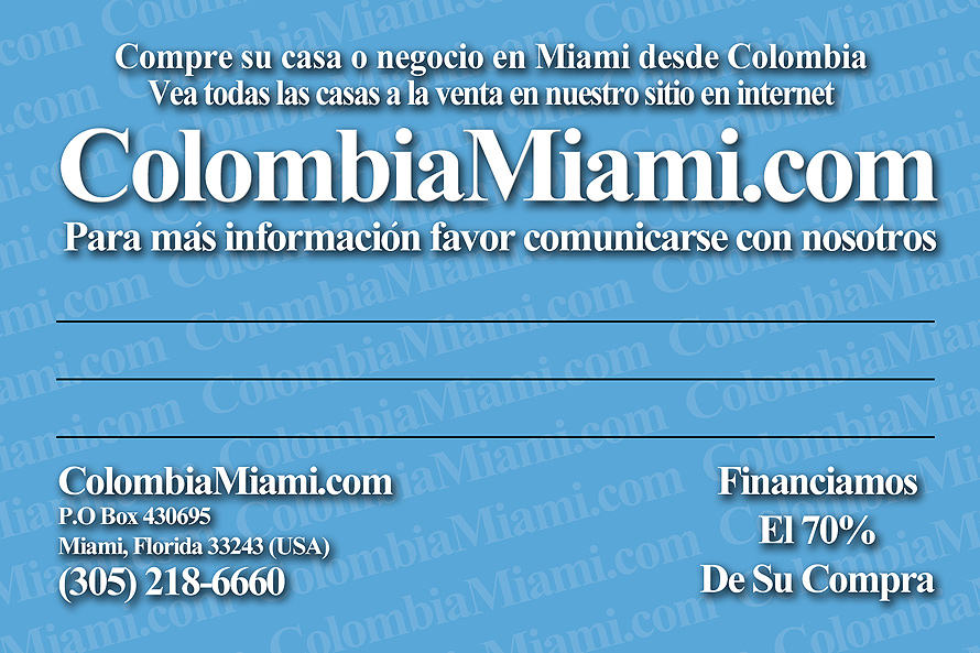 Colombia Miami Real Estate Service