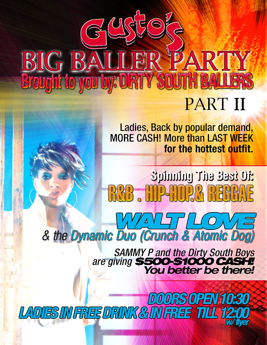 Big Baller Party at Gusto's in Florida City