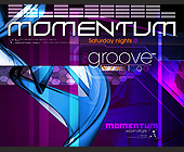 Momentum Saturday Nights at The Groove - tagged with geometric