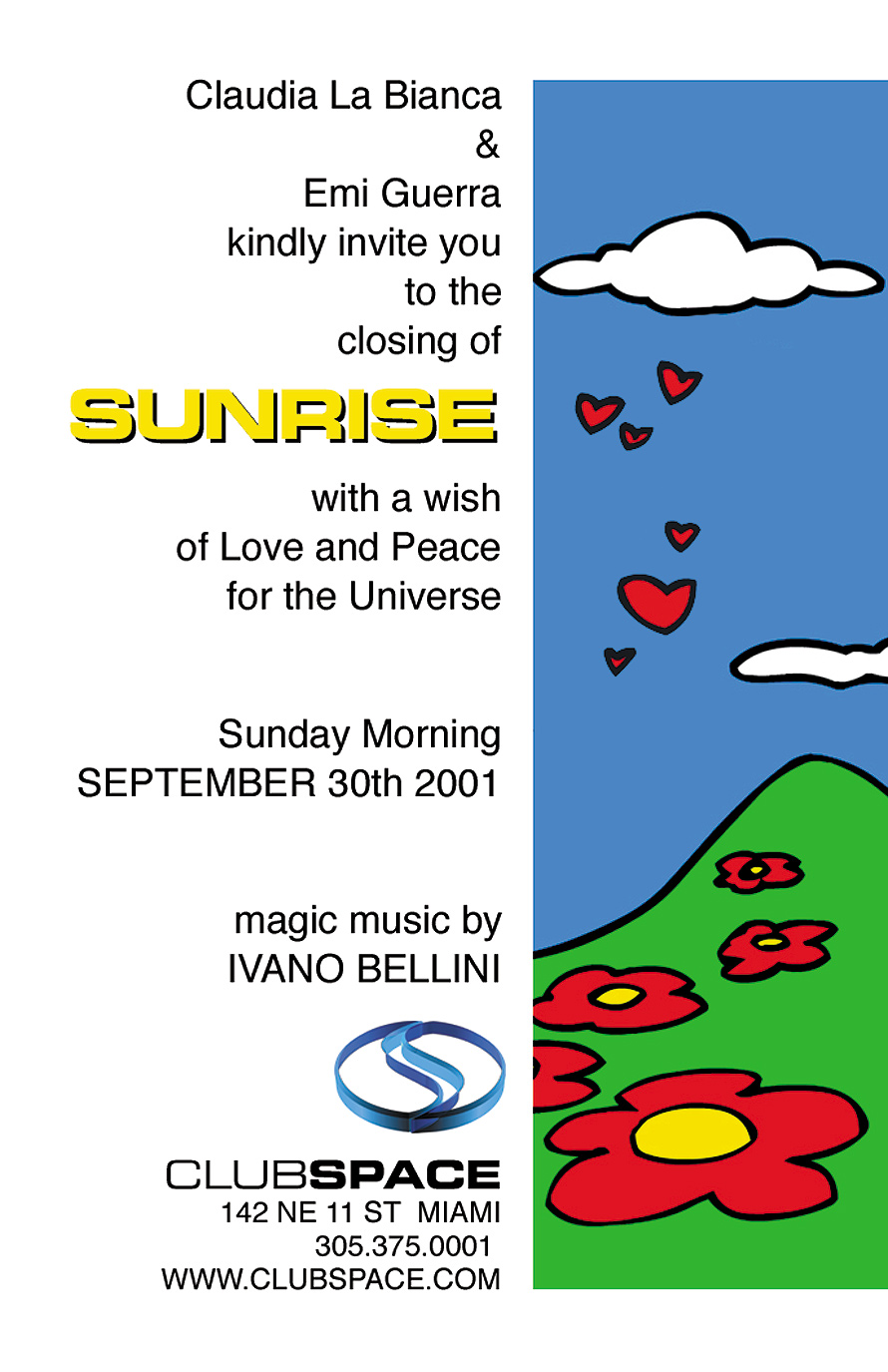 Sunrise Closing at Club Space with Ivano Bellini