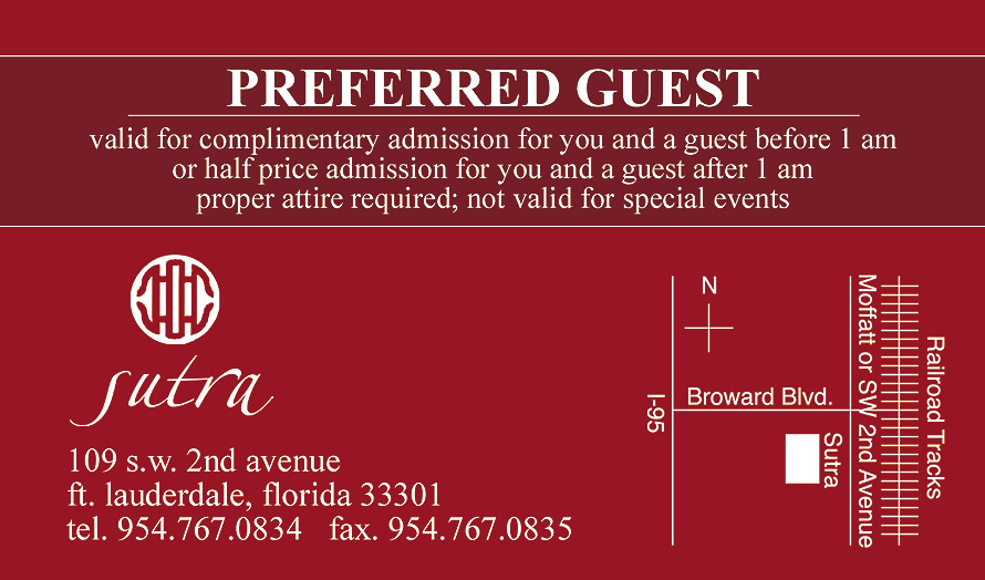 Sutra Red Preferred Guest Pass